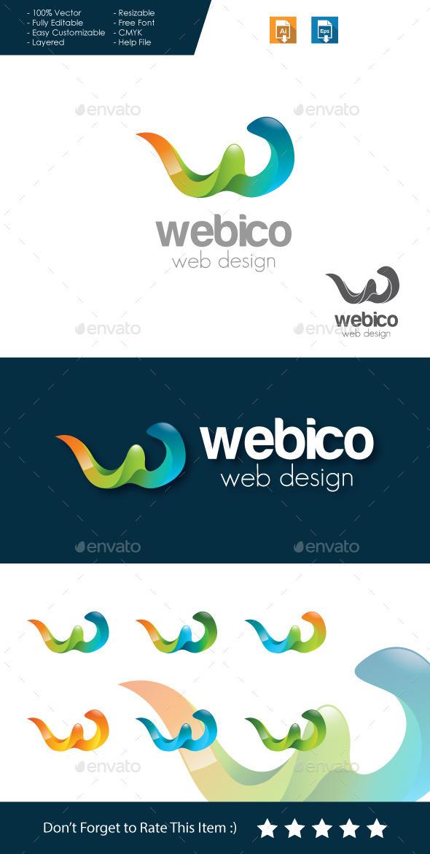 GraphicRiver Webico Web Design Letter W Logo 11373646