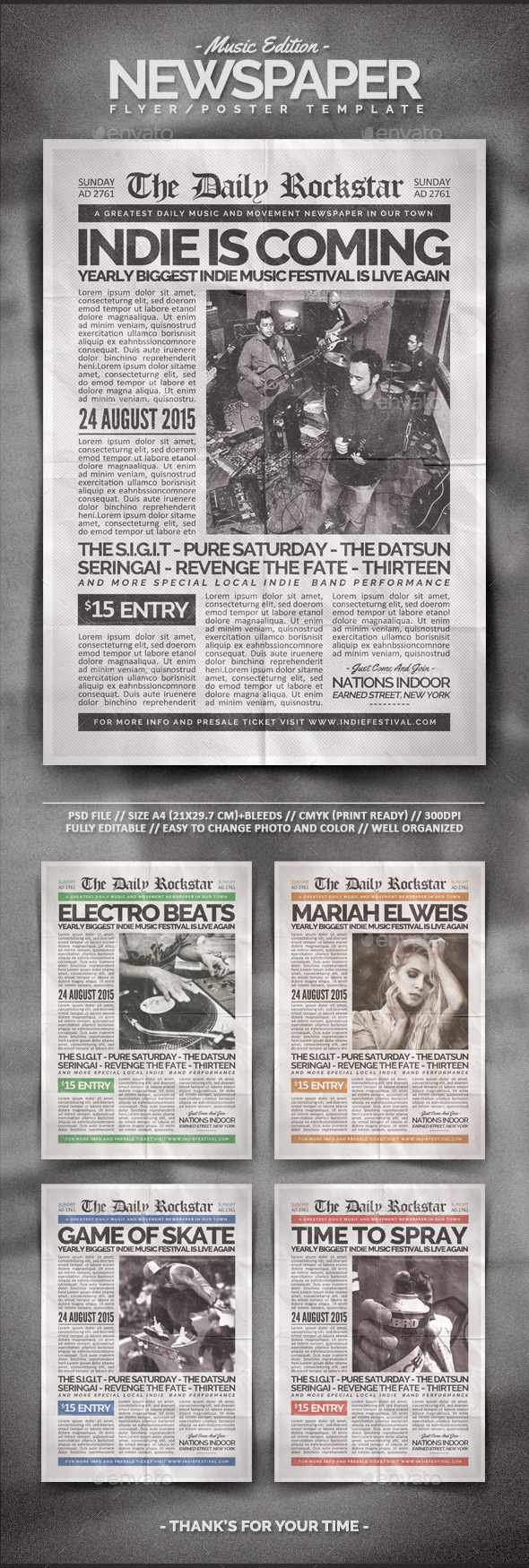 GraphicRiver Newspaper Flyer Template 11152612