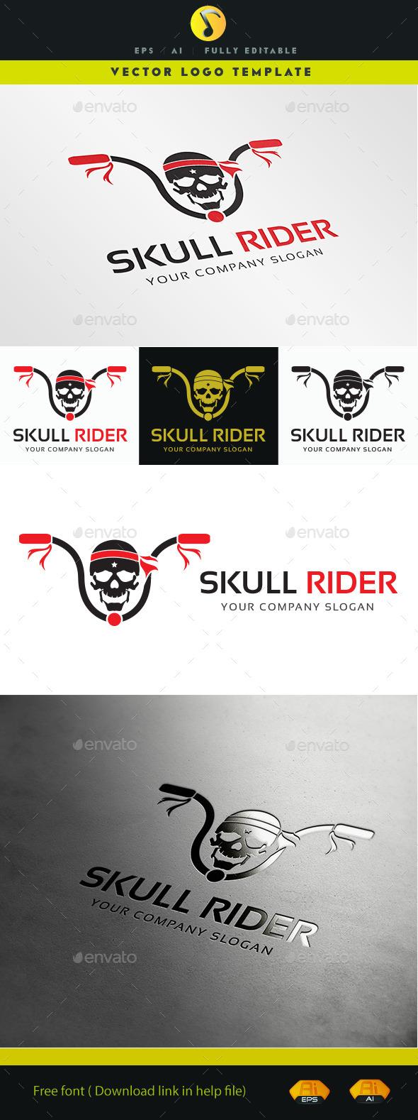 GraphicRiver Skull Rider 11373764
