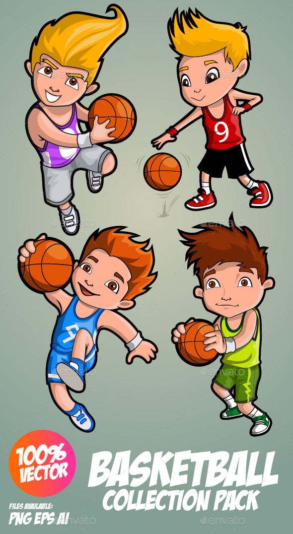 Cartoon Characters Playing Basketball : Cartoon character playing basketball dondrup