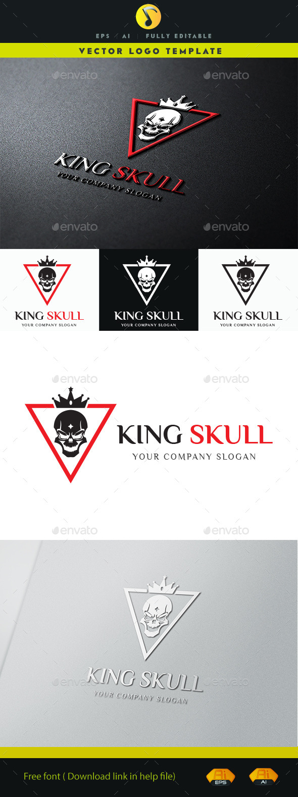 GraphicRiver King Skull Logo 11373801