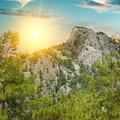mountain landscape and sunrise - PhotoDune Item for Sale