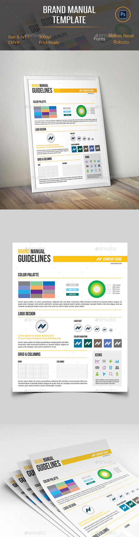 GraphicRiver Brand Manual Template 11373819