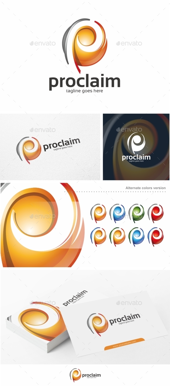 GraphicRiver Proclaim P Letter Logo Template 11374364
