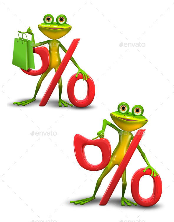 GraphicRiver Frog and the Percent Sign 11374391