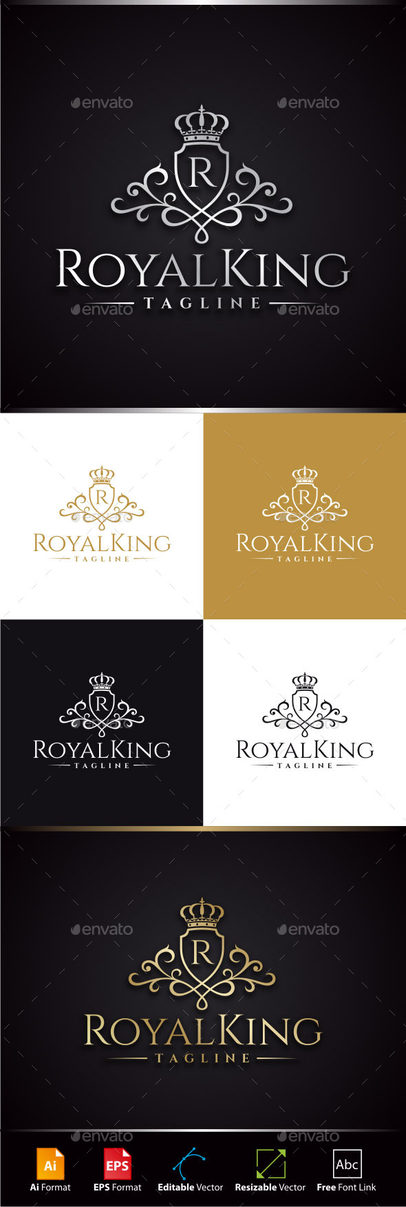 GraphicRiver Royal King Logo 11374410