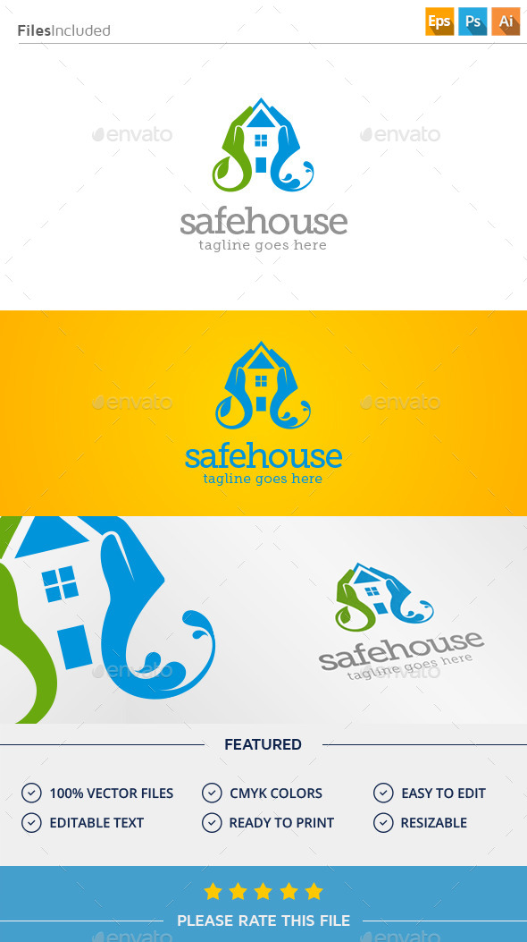 GraphicRiver Safe House Logo 11374442