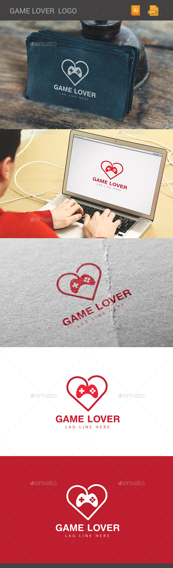GraphicRiver Game Lover Logo 11374577