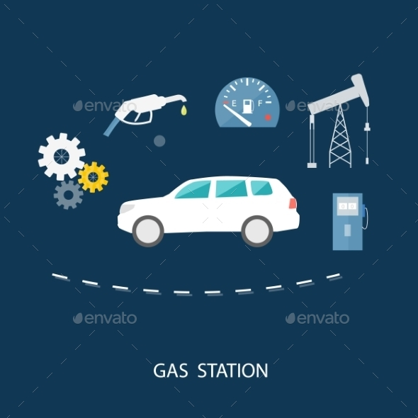 GraphicRiver Car In Gas Station 11374612