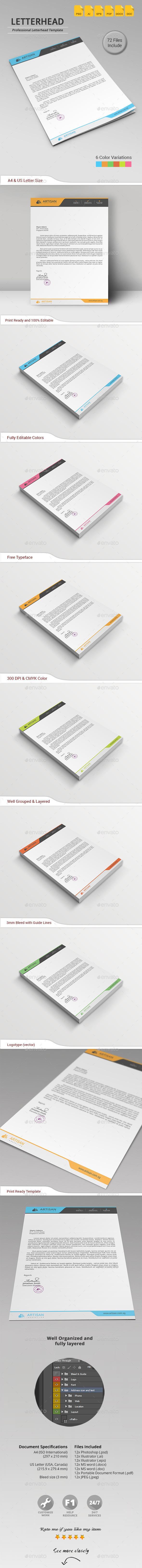 GraphicRiver Letterhead 11374747