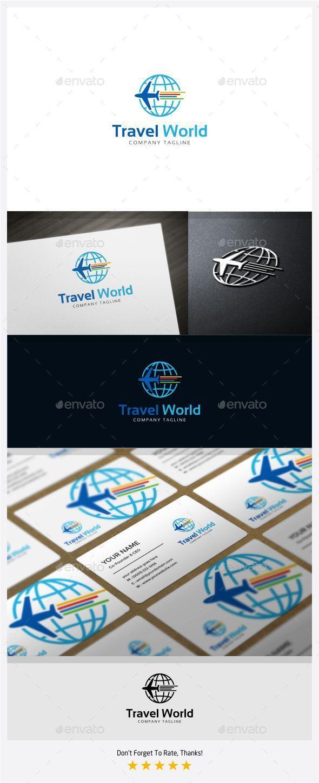 GraphicRiver Travel World Logo 11375129