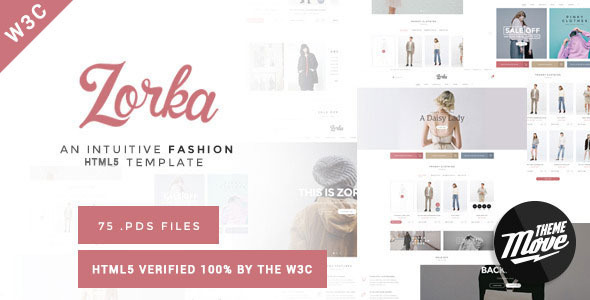 ThemeForest Zorka An Intuitive Fashion HTML5 Template 11375177