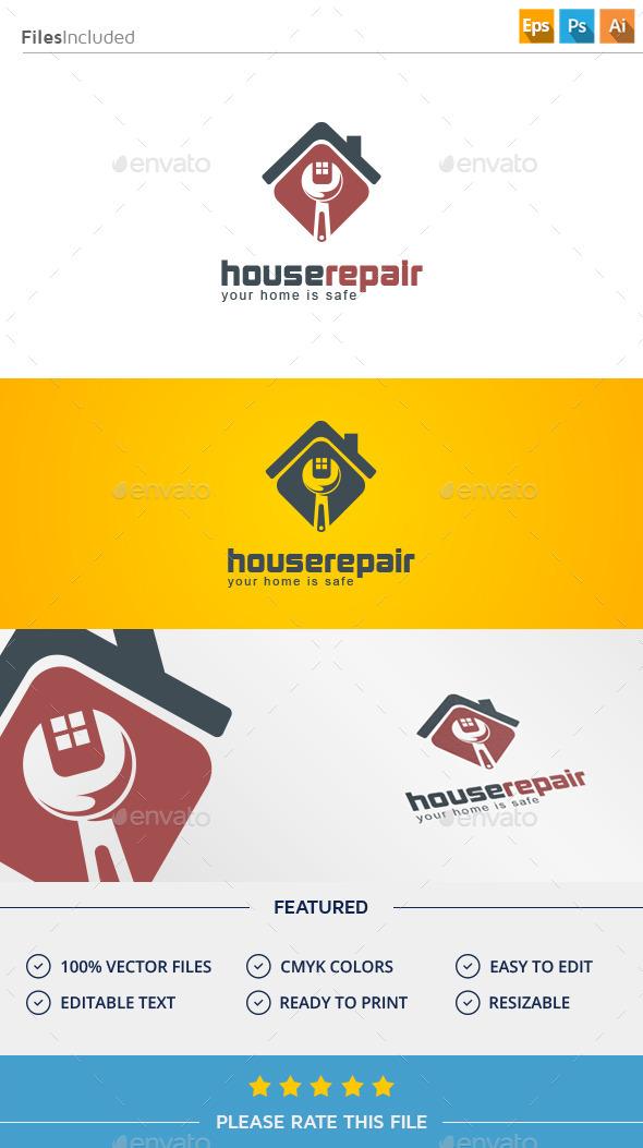 GraphicRiver House Repair Logo 11375388
