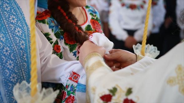Hand Towel Binding in Church