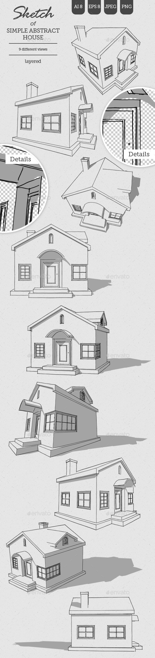 GraphicRiver Sketch of Abstract House 11375402