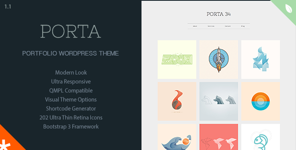 PORTA – Responsive Portfolio WordPress Theme (Portfolio) Download