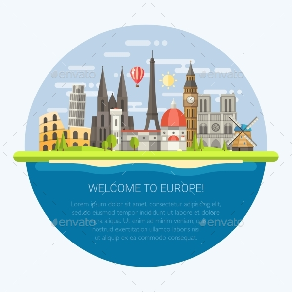 GraphicRiver Welcome to Europe 11375516