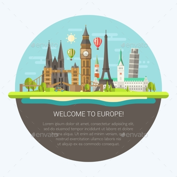 GraphicRiver Welcome to Europe 11375518