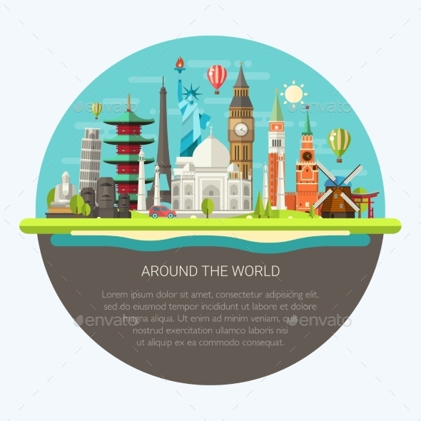 GraphicRiver Around the World 11375519