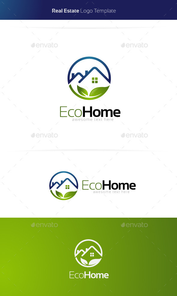 GraphicRiver Eco Home Real Estate Logo 11375545