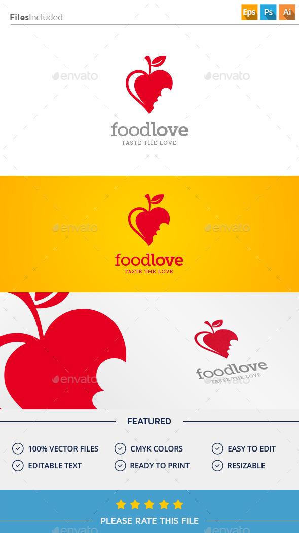 GraphicRiver Food Love Logo 11375655