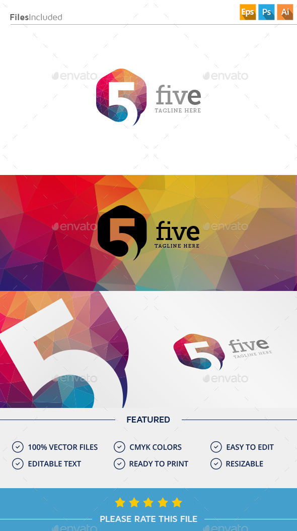 GraphicRiver Number Five Logo 11375900