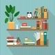 Books on Bookshelves - GraphicRiver Item for Sale