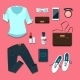 Young Woman Clothes and Accessories Outfit - GraphicRiver Item for Sale