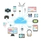 Cloud Server and Sync of Electronic Devices - GraphicRiver Item for Sale