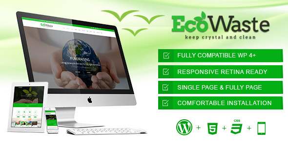 ThemeForest EcoWaste Environmental WordPress Theme 11275681