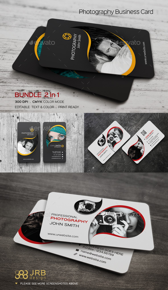 GraphicRiver Photography Business Card Bundle 11376608