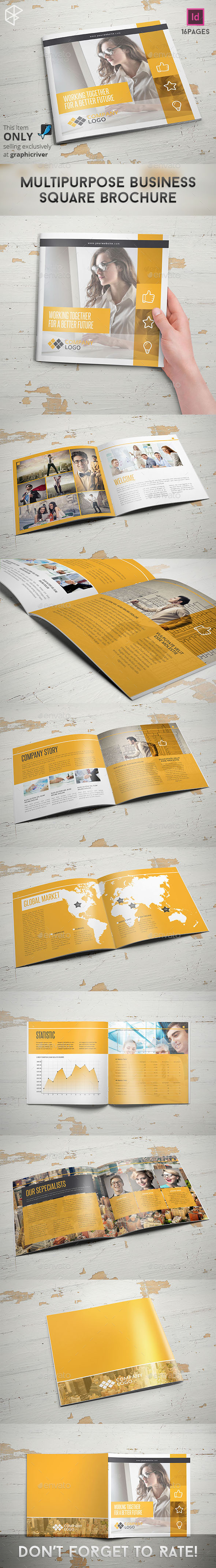 GraphicRiver Multipurpose Business Square Brochure 11376630