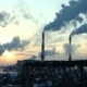 Industrial Winter View At Sunset With Smoke - VideoHive Item for Sale