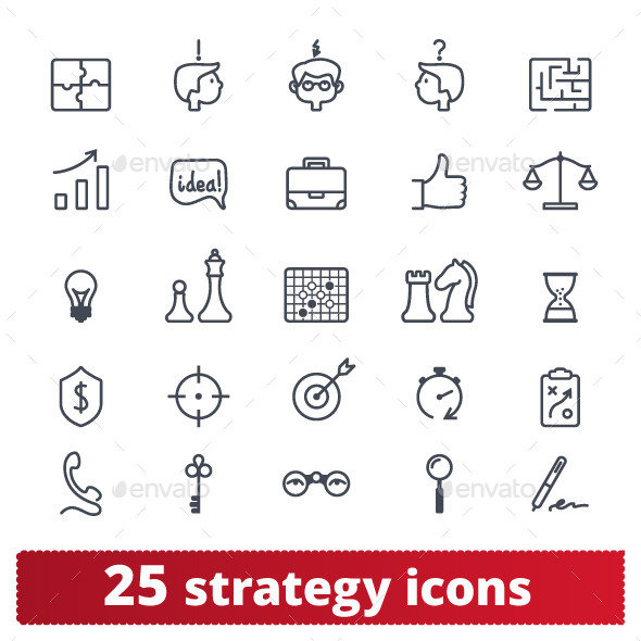 GraphicRiver Business Strategy Icons 11376813