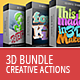 3D Creative Text & Shape Actions - Bundle