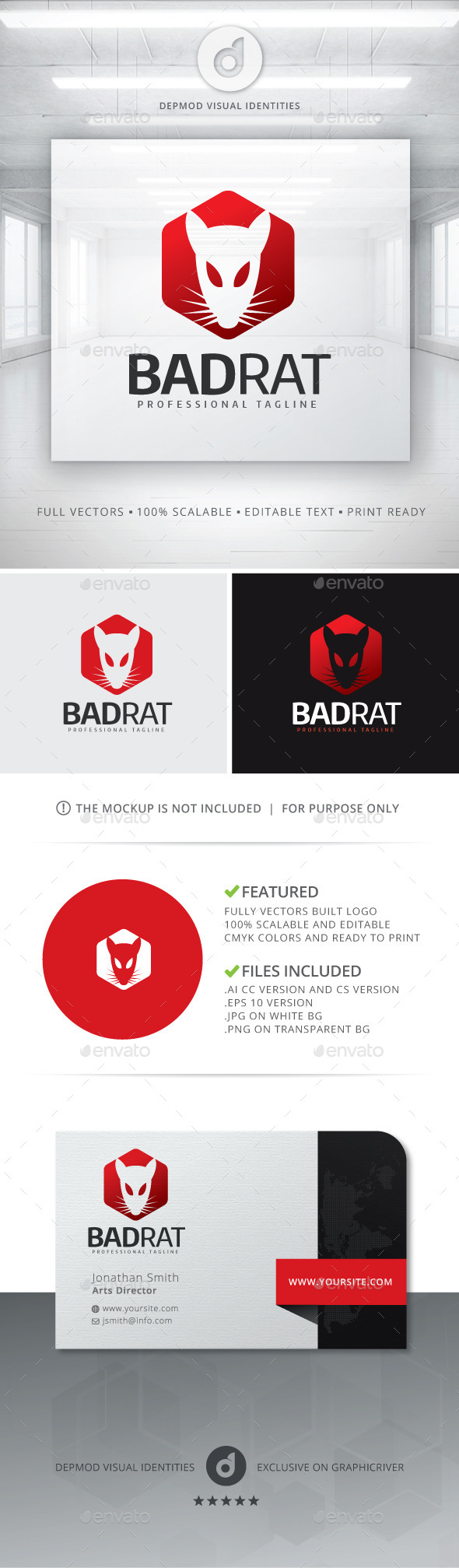 GraphicRiver Bad Rat Logo 11376995