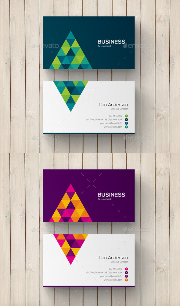 GraphicRiver Geometric Abstract Business Card 11377084