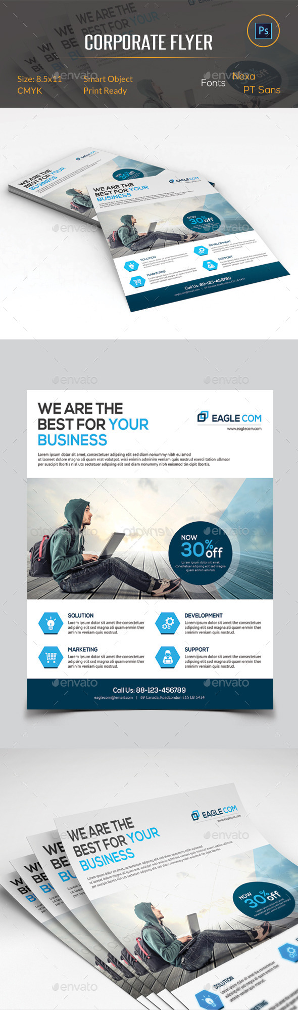 GraphicRiver Corporate Business Flyer 11377308