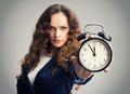 Girl showing alarm clock - PhotoDune Item for Sale
