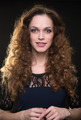 Beautiful woman with long brown curly hair - PhotoDune Item for Sale