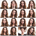 Collage of woman different emotions - PhotoDune Item for Sale