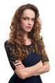 Beautiful young woman with long curly hair - PhotoDune Item for Sale