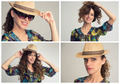 stylish woman collage, retro styling - PhotoDune Item for Sale