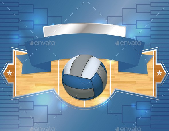 GraphicRiver Volleyball Tournament Illustration 11377875