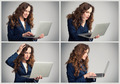 Collage of a business woman different emotions - PhotoDune Item for Sale