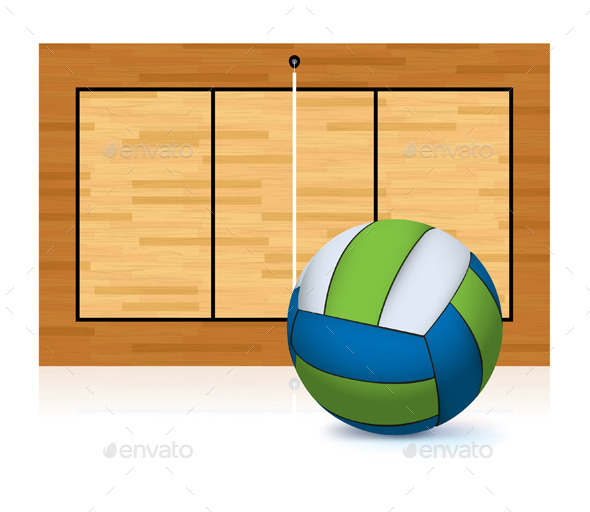 GraphicRiver Volleyball and Court 11378005