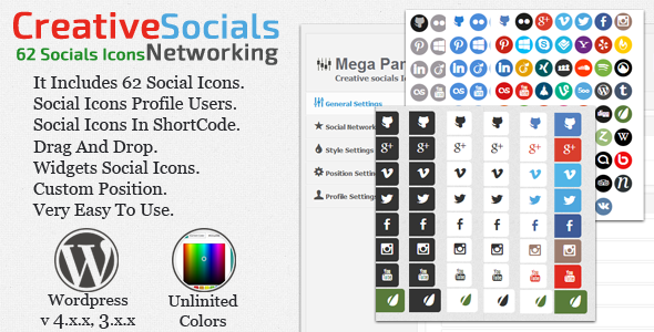 Creative socials - CodeCanyon Item for Sale