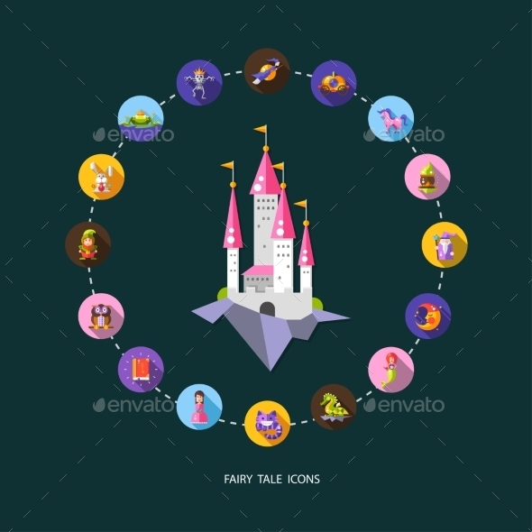 GraphicRiver Set of Fairy Tale Icons 11378117
