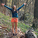 Girl Feeling Freedom in the Forest - VideoHive Item for Sale