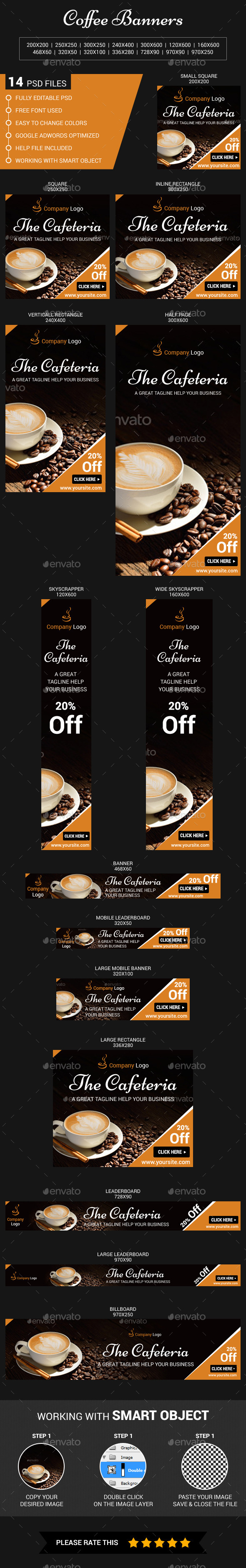 GraphicRiver Coffee Web Banners 11378136